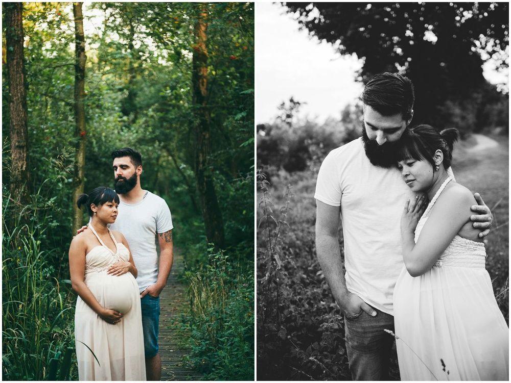 stoere moderne zwangerschapsfotografie op locatie