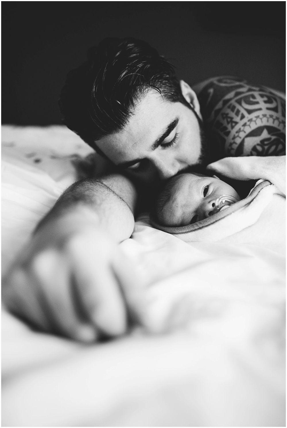 newborn met papa
