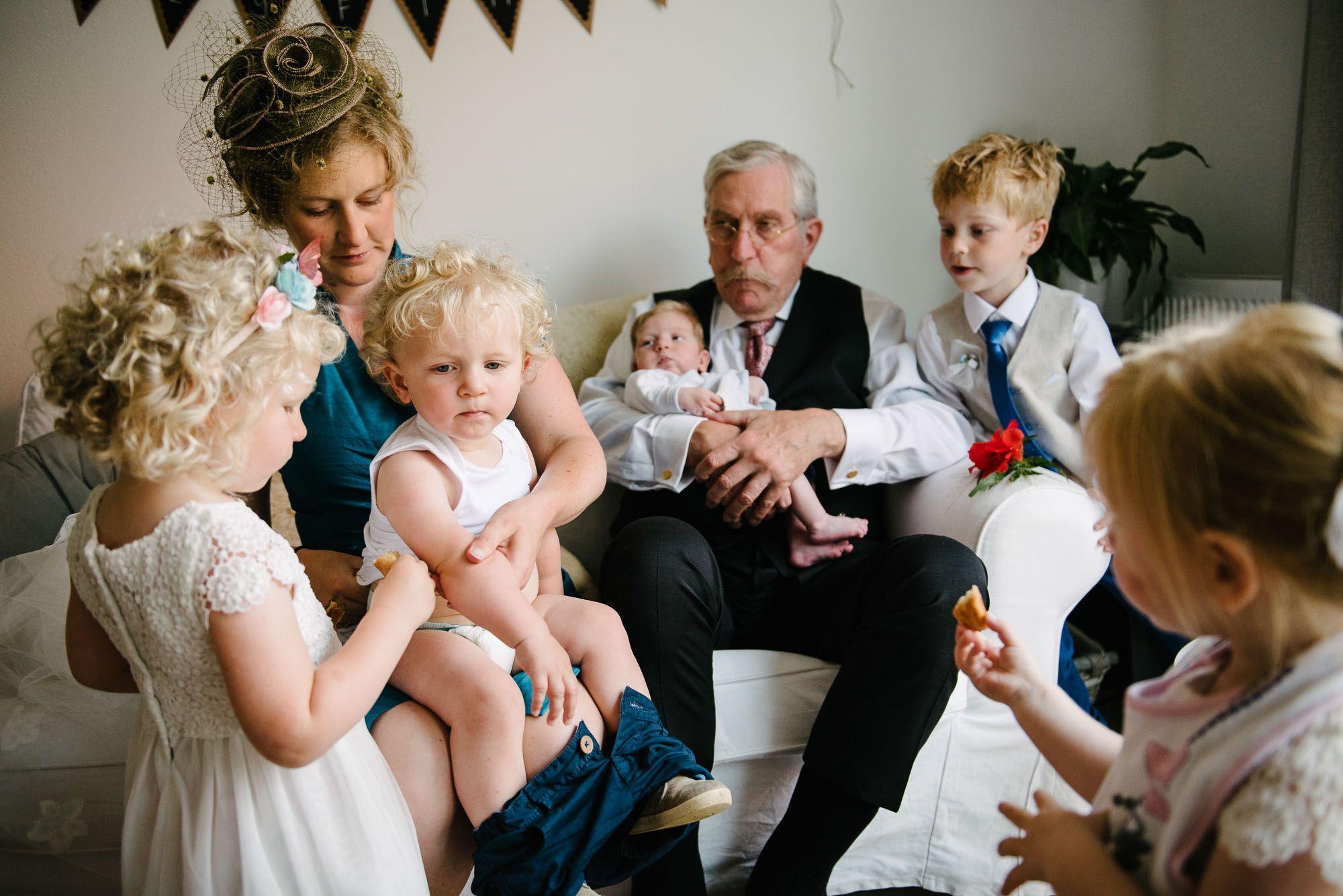 journalistieke bruidsreportage Leiden kids