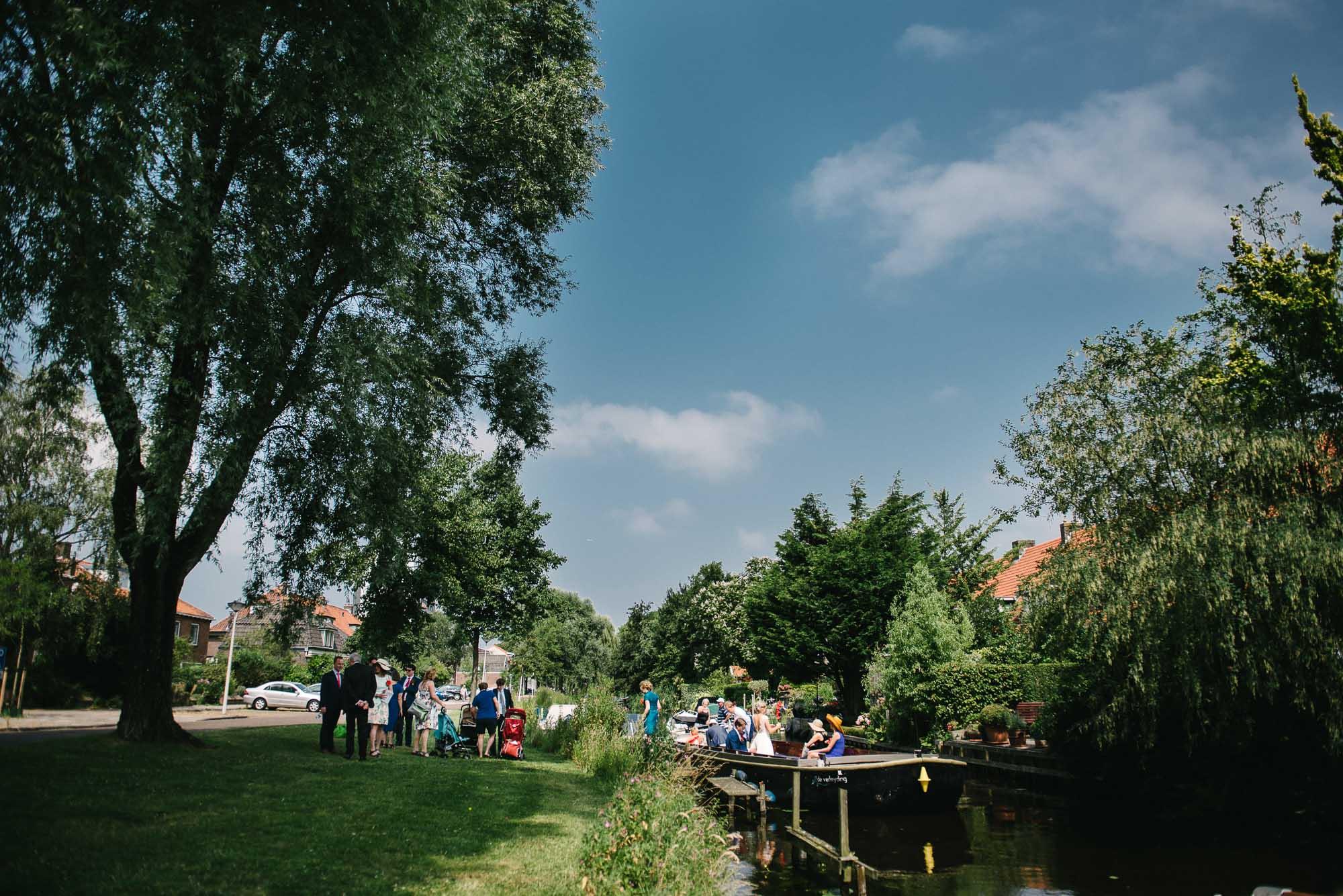 boottocht bruiloft Leiden