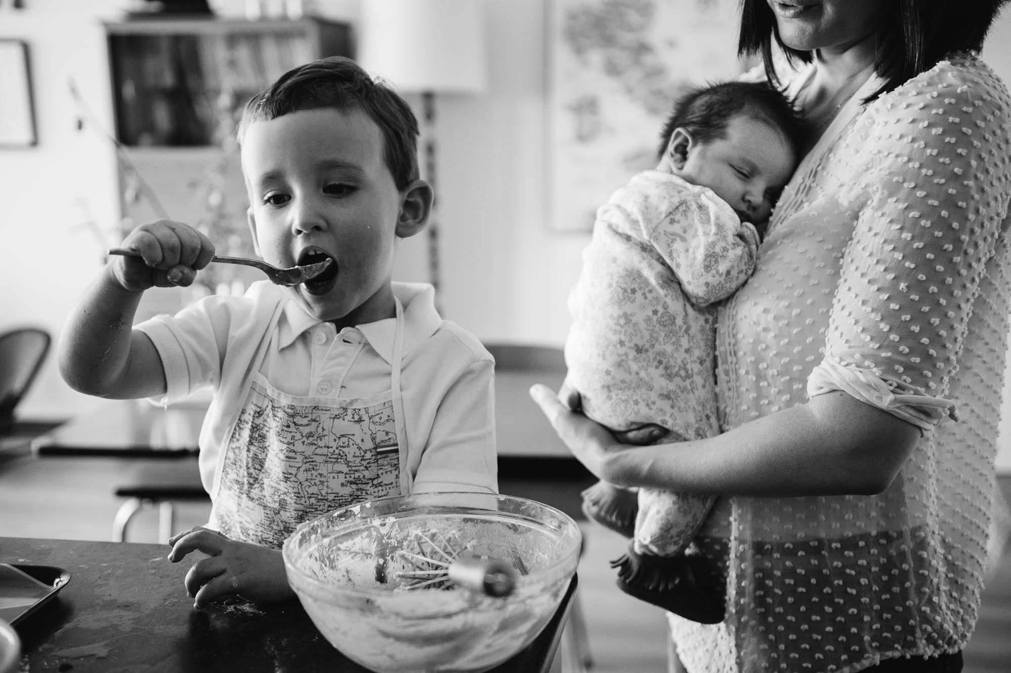 spontane foto's met kinderen