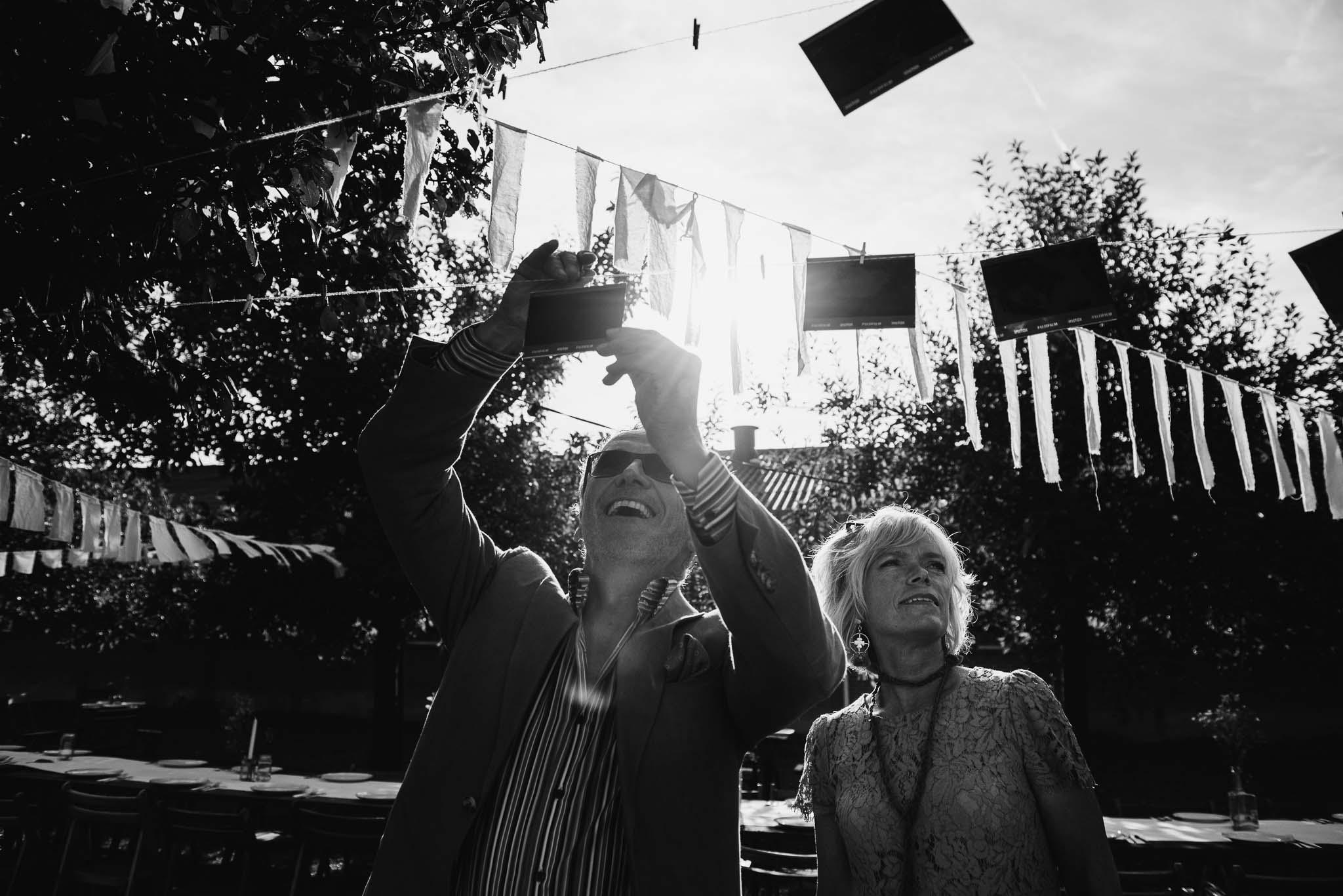 polaroid foto's bruiloft ideeen