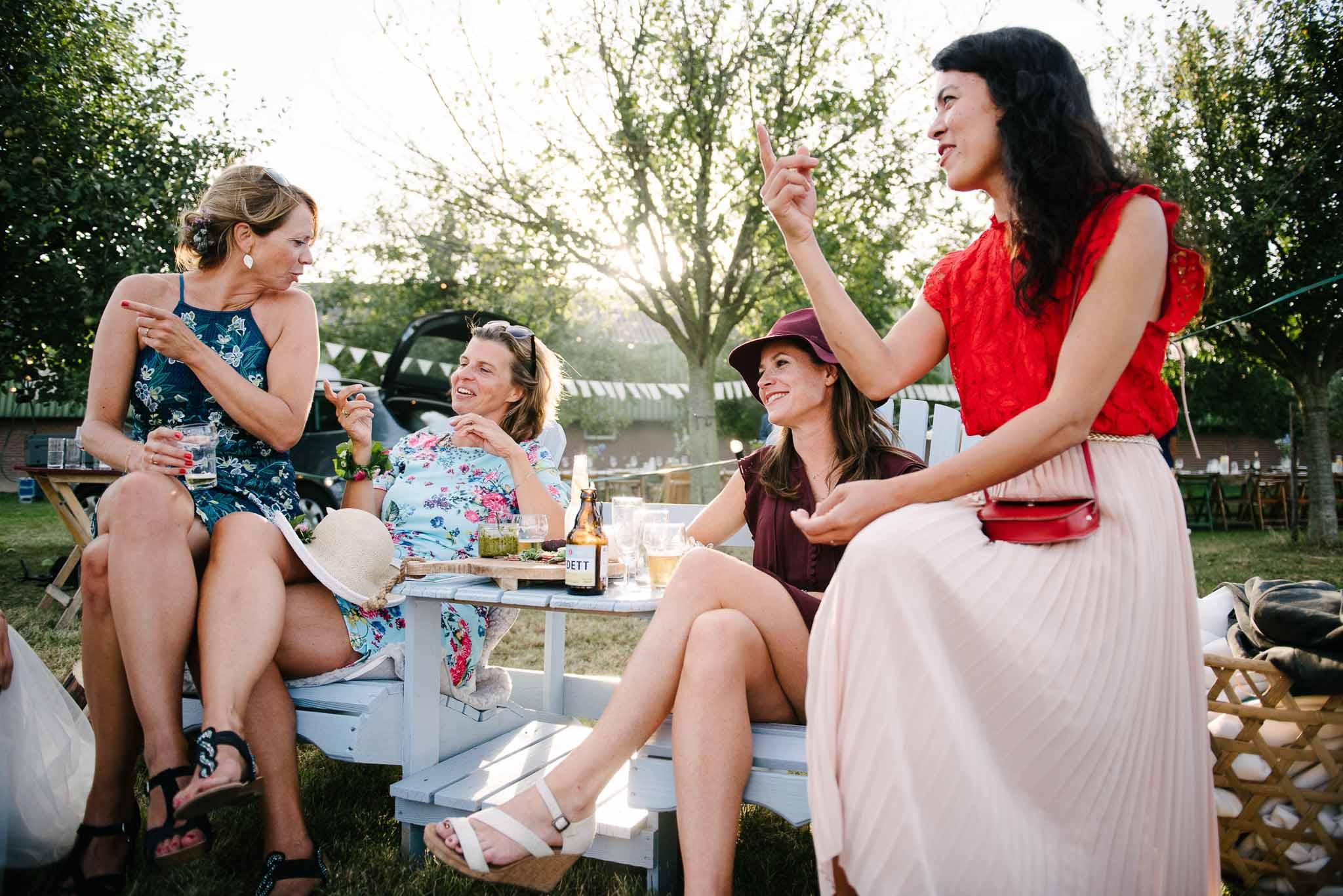 bohemian bruiloft festival stijl buiten