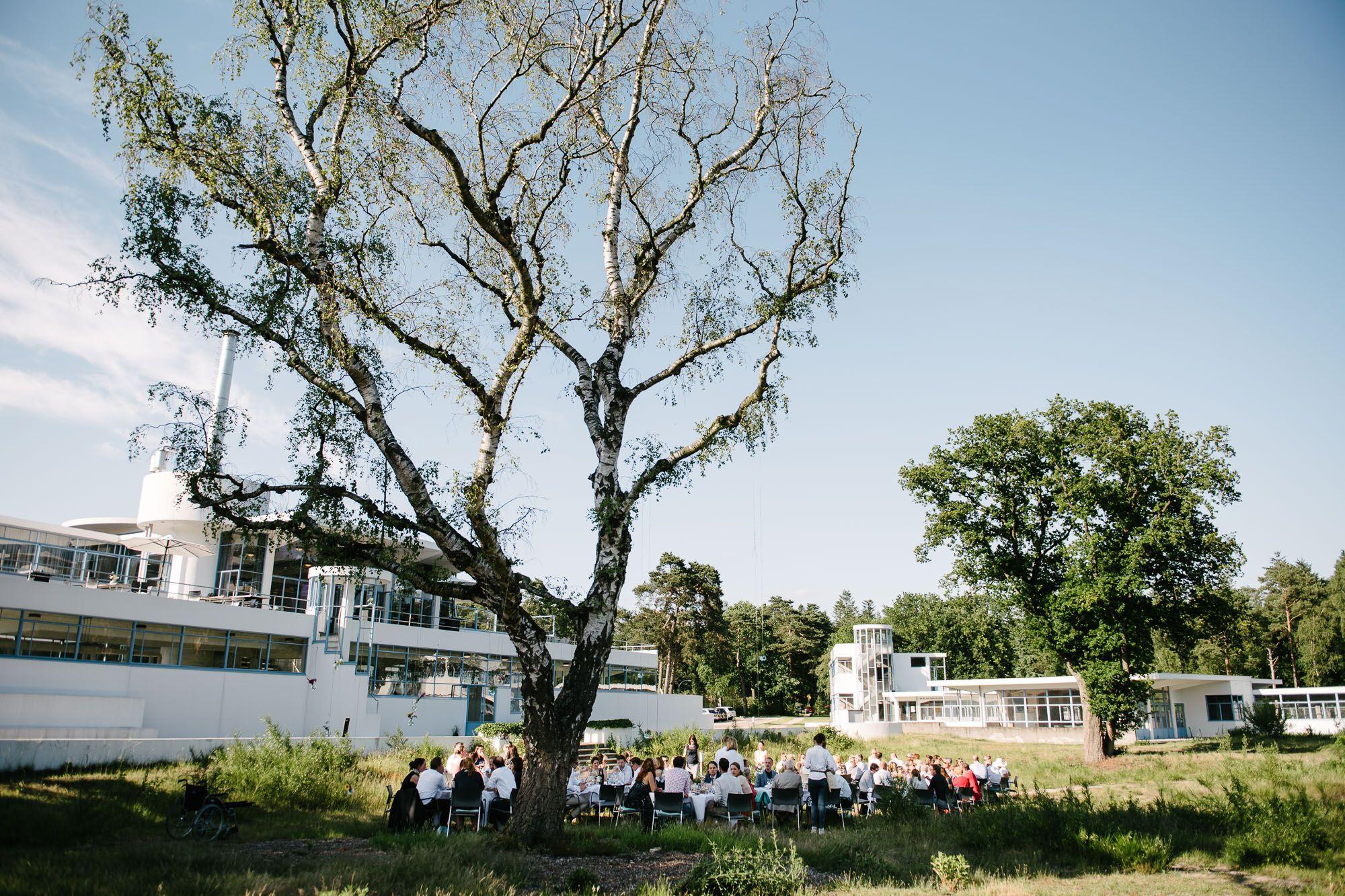 buiten eten bruiloft Hilversum