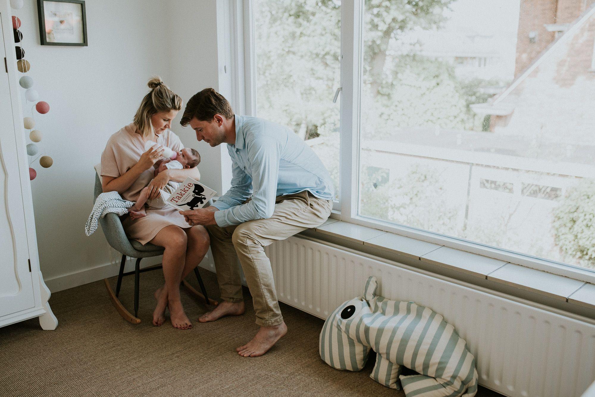 ongeposeerde newborn fotoshoot Rotterdam