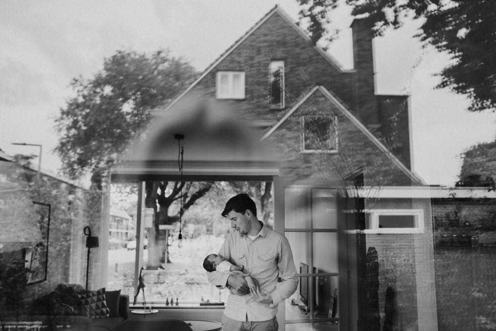 stoere foto's newborn baby gezin
