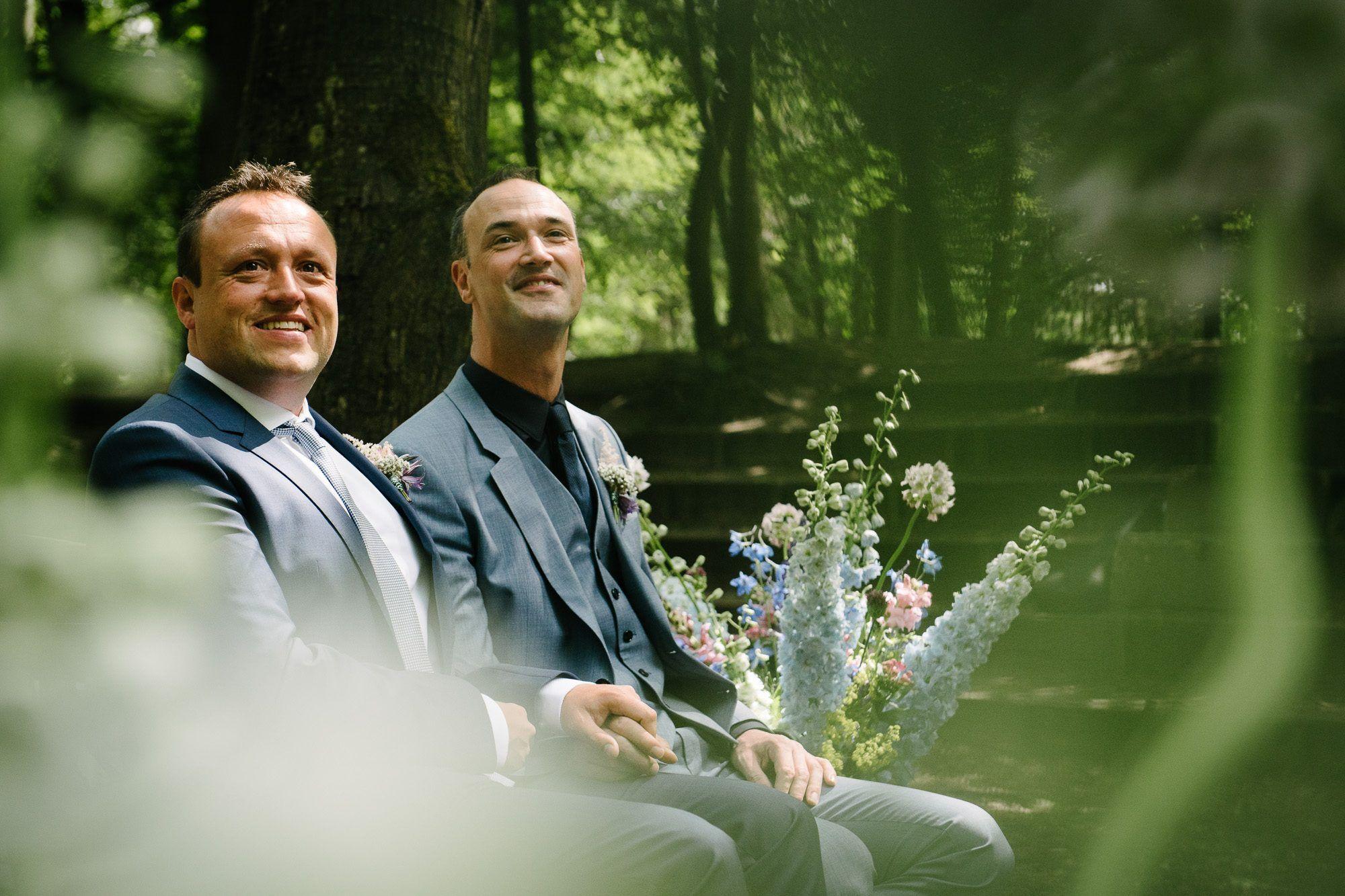 bruiloft in het bos