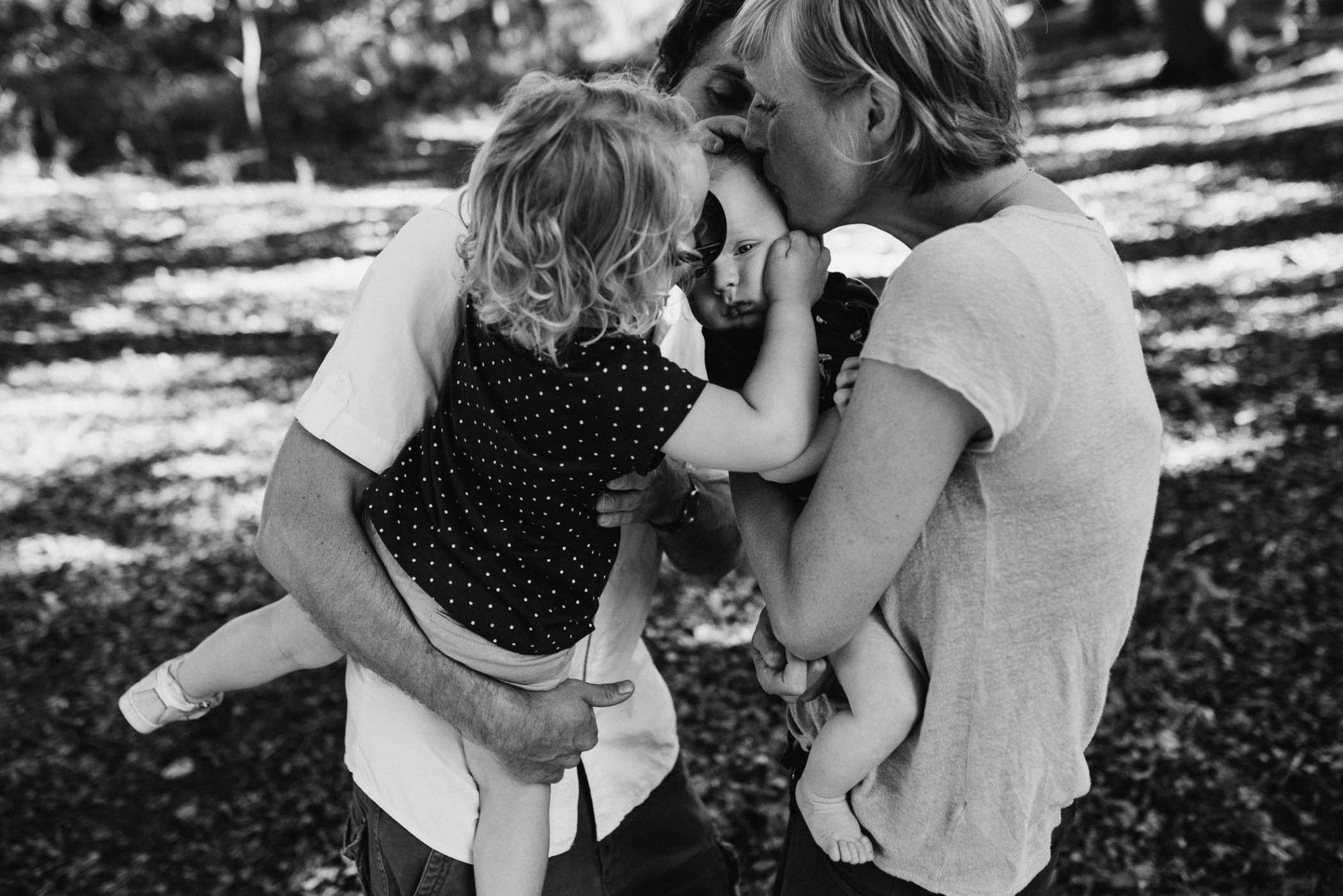 spontane foto's gezin buiten