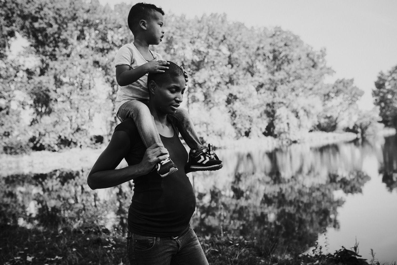 fotoshoot zwanger met kind stoer