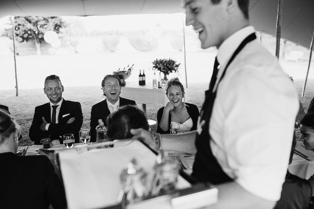 bruiloft buiten dineren