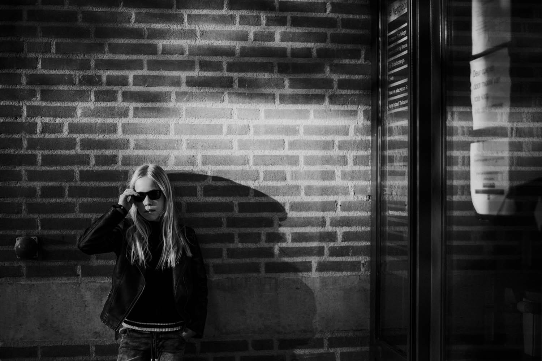 stoer meidenportret fotoshoot