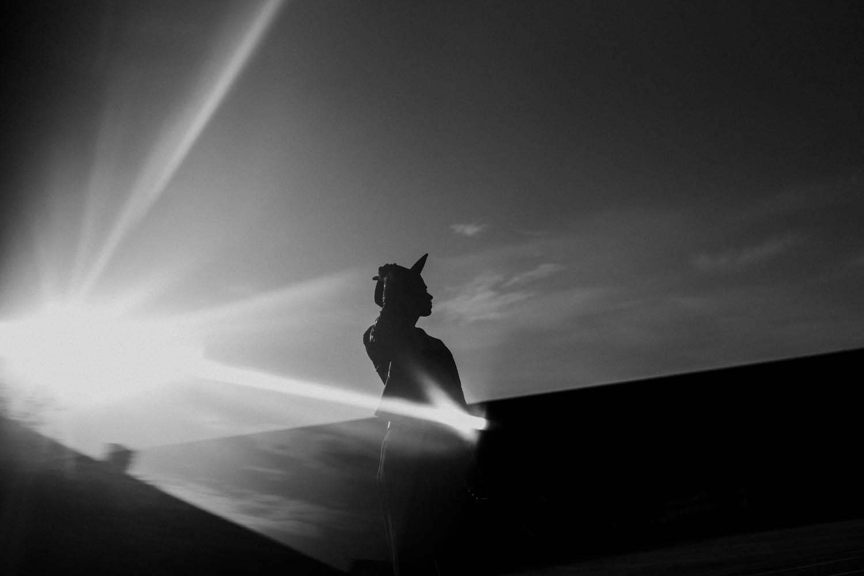 creatieve portretfoto vrouw silhouette