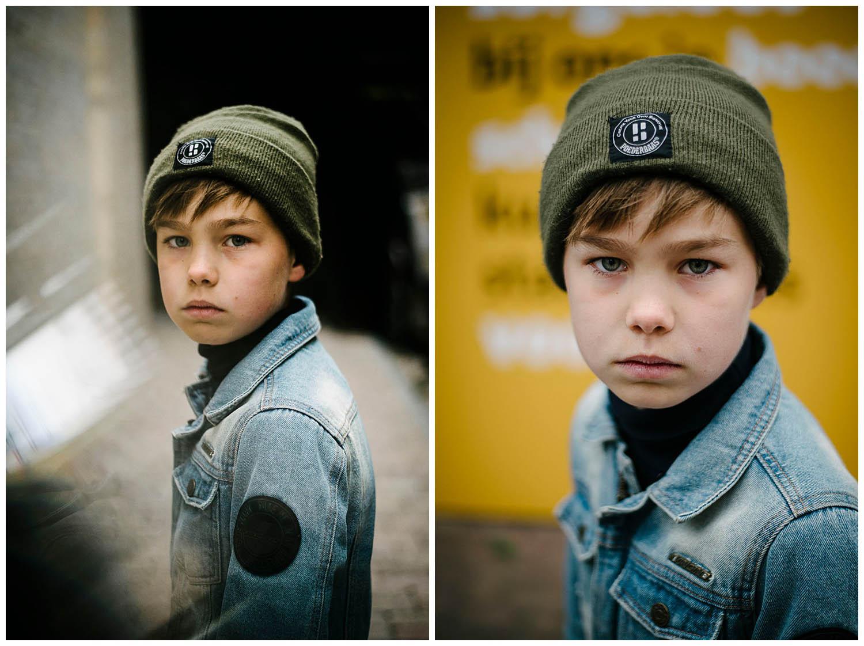 kinderportret jongen stoer