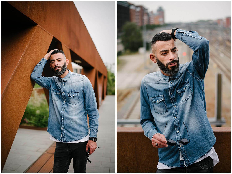 portretfotografie op locatie stad